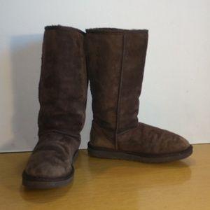 Ugg Australia Brown Classic Tall Boots, Sz 8